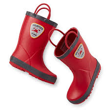 Firefighter Boots Material by Amazon Com Carter U0027s Boys Rain Boots Toddler Little Kid Shoes