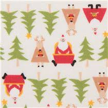 santa reindeer tree fabric fabric