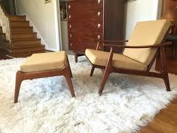 modern chair and ottoman kod mid century modern chair ottoman