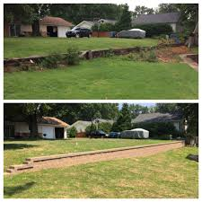 before and after 8 u2033 rockwood retaining wall fieldstone color