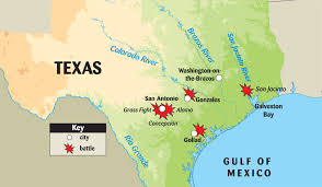 Mexico On A Map by Texas Revolution Battle Map Thinglink