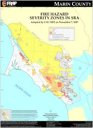 Zip Code Map Sacramento by Cal Fire Marin County Fhsz Map
