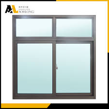 two beams in aluminum frame horizontal sliding double glazed