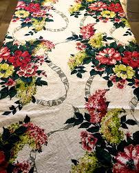 stunning hollywood regency era blooms and bows barkcloth fabric
