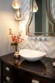 Decorating Powder Rooms Wall Lamps Toilet And Flower Vase Single Wash Basin Mirror