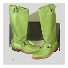 womens boots green leather 76 frye shoes frye womens boots green leather sz 6 from