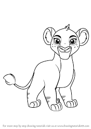 learn draw tiifu lion guard lion guard step