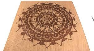 engraved wooden line laserbean