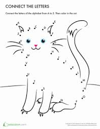 connect the dots a z mr cat worksheet education com