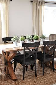 How To Build Dining Room Table X Brace Farmhouse Table Free Plans Cherished Bliss