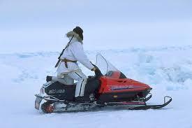 snow machine picture of alaska inupiat eskimo on snow machine image alaska