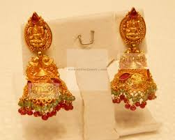 temple design gold earrings gold buttalu designs search earrings gold