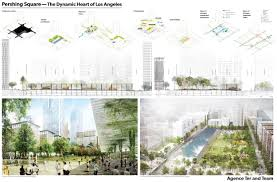 Urban Garden Los Angeles Four Finalists Selected To Redesign Pershing Square In Los Angeles