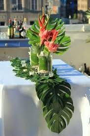 Tropical Themed Party Decorations - diy balloon u0026 fronds tropical party centerpiece summer party