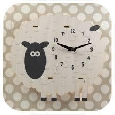 Wooden Wall Clock Sheep 3d Kids Wooden Wall Clock Kids Room Decor Retroplanet Com