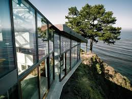 Coastal House Coastal House On Bluff Designed To Blend Into Landscape