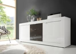 basic contemporary white glossy lacquer dining buffet lincoln