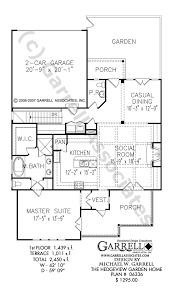 hedgeview garden home house plan covered porch plans