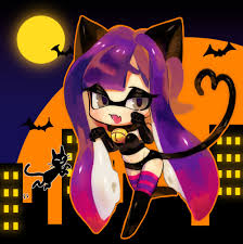 halloween cat meme cat squid for halloween splatoon know your meme