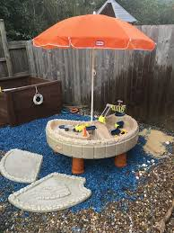 little tikes sand and water table little tikes builders bay sand water play with umbrella in