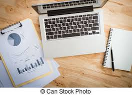 dessus de bureau bureau bois vendange ordinateur portable moderne images