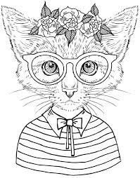 cool coloring pages adults new cat coloring pages for adults for cool coloring book pages 47