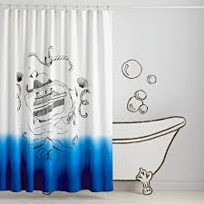 ship in a bottle shower curtain the land of nod