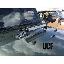 jeep jk hood led light bar under cover fabworks llc ucf jeep jk hood mounting brackets for