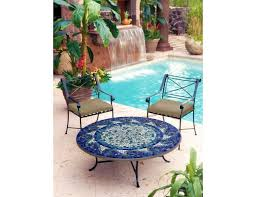 36 Patio Table Knf Designs Mosaic Tiled Round Coffee Table