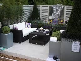 Modern Porch Furniture by Garden Garden Ideas Oak Flooring Wooden Table Modern Garden