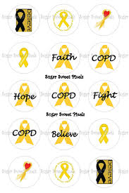 copd ribbon instant copd gold ribbon awareness 1 inch circle
