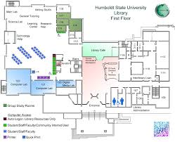 library floor maps library humboldt state university
