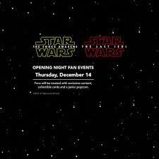 opening night fan event star wars the last jedi to celebrate the release of star wars marcus wehrenberg