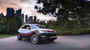 porsche macan price singapore porsche macan turbo gets special race livery in singapore