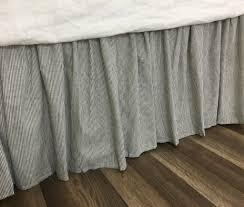 White Bed Skirt Queen Subtle Black And White Striped Bed Skirt Natural Linen Flax Bed