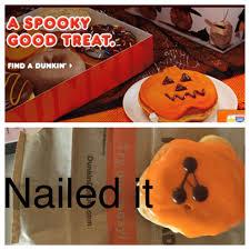 halloween memes my girlfriend got a halloween pumpkin donut from dunkin u0027 donuts