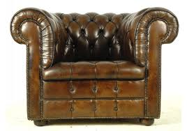 Vintage Leather Club Chair Brown Leather Chesterfield Club Chair