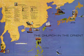 Map Of China And Hong Kong by The Church In Asia Exhibit