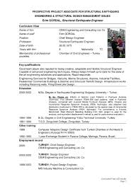 Civil Engineer Resume Sample Structural Engineer Resume Resume For Your Job Application