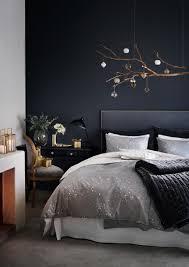 chambre de chambre mur bleu nuit hm2 chambres bedroom i décoration