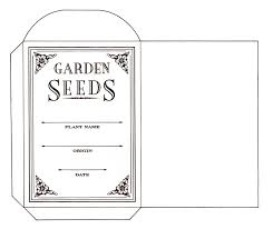 blank seed packets k lichen author seed packet in a library check it out