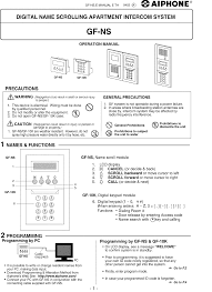 aiphone intercom system gf 10k pdf user u0027s manual free download