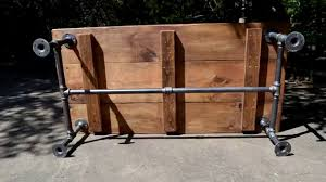 Industrial Wood Coffee Table by Industrial Pipe Coffee Table In Austin Youtube