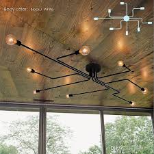 Iron Ceiling Light Best Wrought Iron 6 Heads 8 Heads Diy Rod Ceiling Dome