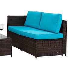 4 pc rattan outdoor indoor patio garden pe wicker storage sofa