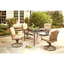 Patio Chairs With Ottoman Patio Ideas Edington 5 Piece Patio Fire Pit Set With Celery