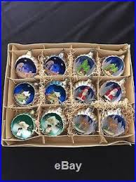 vintage dioramas made in italy 3d 12 glass ornaments