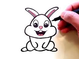 coloring impressive cute bunny drawings attractive drawn