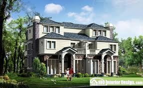 American style semi detached house Design
