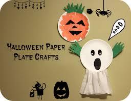 Preschool Halloween Craft Ideas - paper plate ghost halloween craft for preschoolers makobi scribe